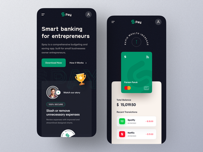 Money management App landing – Mobile Version mobile design website webdesign ui  ux uiux ui typography transaction payment payment method pay money money transfer mockup marketing landingpage responsive website design finance app homepage banking