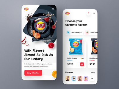 Lay's Website - Mobile concept chips ecommerce flavours homepage landing page mobile website responsive design mockup modern orizon uidesign product design uiux webdesign website mobile website design crisps crackers lays food
