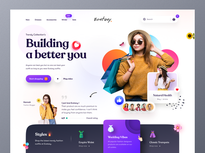 Clothing Store Web UI fashiondesigner wear cloth winter christmas online shopping shopping women fashion style fashion marketing typography ui ux web design mockup homepage ecommerce landing page website