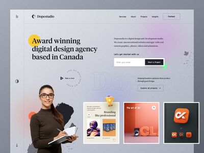 Agency Website design creative instagram marketing service designteam agency branding portfolio freelance design project agency product illustration typography ui ux mockup web design homepage landing page website