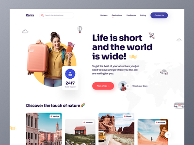 Travel Agency Website travel agent travel app traveller tourism tourist vacation rentals trip planner travel guide travel agency traveling webdesign typography website design ui ux mockup web design homepage landing page website