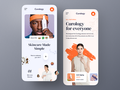 Curology - Mobile Responsive mobile responsive responsive design modeling shopping personal care fashion cosmetics makeup skincare product typography website design ux ui mockup web design ecommerce homepage landing page website
