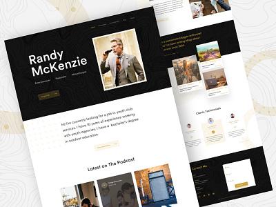 Vcard Personal Website Exploration philanthropist podcaster entrepreneur designer ux ui vcard portfolio site personal portfolio