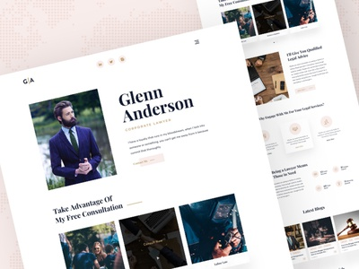 Lawyer personal website exploration