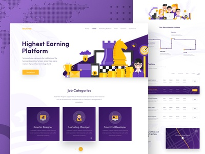 Marketing Agency Career Page Design
