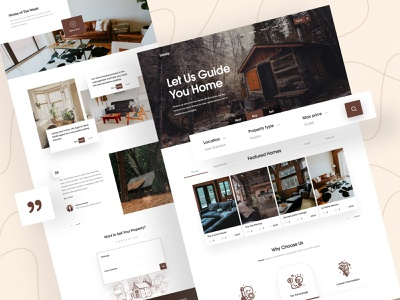 Real Estate Landing Page real estate agency property properties home agent ecommerce buy sell luxury architecture illustration website webpage design web interior real esate housing business home landing page 2018 trends