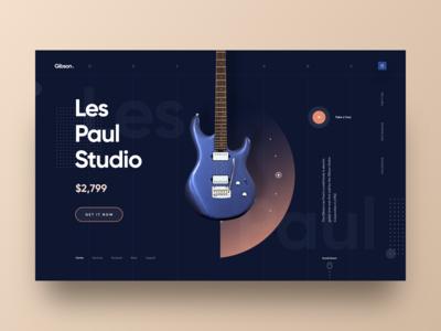 Gibson - Guitar Store Web UI