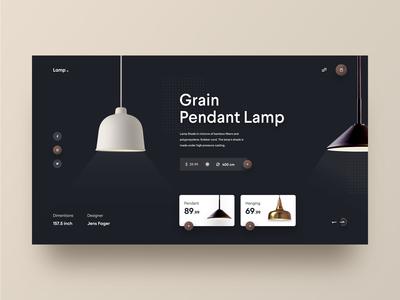 Pendant Lamp Web UI
