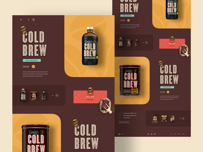 Cold Brew Coffee Landing Page
