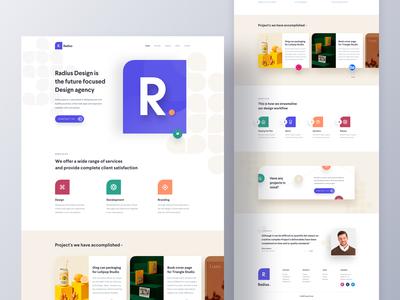 Radius - Agency Landing Page