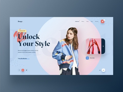 Rouge - Fashion Web UI