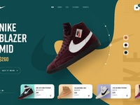 Nike website design 3x