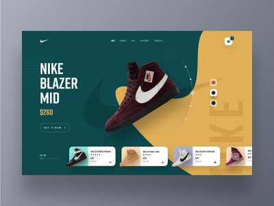 Nike Website Design shoe shop website design webdesign web ux uxdesign uidesign ui sportswear trainer shop sneakers shop product website hiwow nike lifestyle landing page footwear ecommerce cart 2019 trends