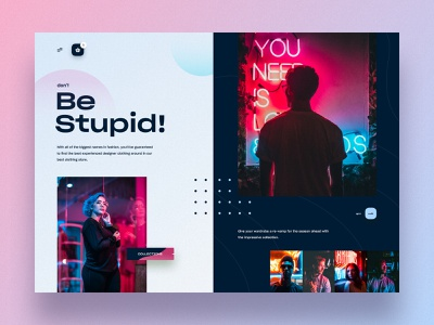Fashion Web UI typography theme product landing page product design online shopping marketing agency marketing industrial store shop landing  page homepage header fashion ecommerce hiwow colourful design clothing store cart 2019 trends