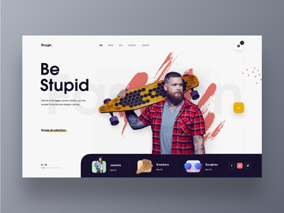 Rouge - Clothing Store Web UI style fashion sportswear typography theme product landing page product design online shopping marketing agency marketing landingpage industrial store shop homepage hiwow header ecommerce colourful design clothing store cart 2019 trends