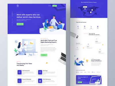 Surge3 - Agency Website Design development it company website design company website webdesign ux ui typography product design marketing page marketing agency digital marketing landing page illustration portfolio homepage design agency website design clean design 2019 trends