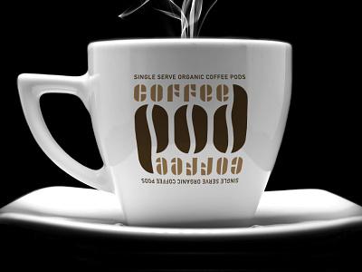 Coffee Pod Logo hidden treasures joschmi fonts typography bauhaus adobe design branding logo