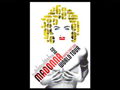 Madonna typography fonts art bauhaus design poster madonna