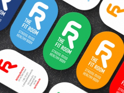 The Fit Room Business Cards typography lettering creative direction design branding brand logo