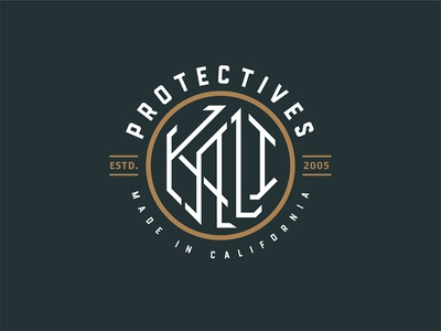 KALI Badge kali california type illustration illustrator design branding badge lockup icon logo vector typography clean lettering