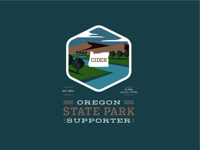 Oregon State Parks Cider Label