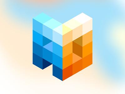 New Portfolio Logo letter d letter a letters logotype portfolio bricks wordmark mark logo