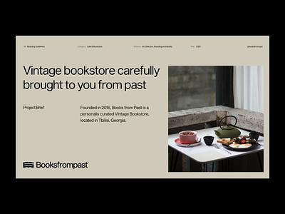Booksfrompast logo graphic design minimalistic