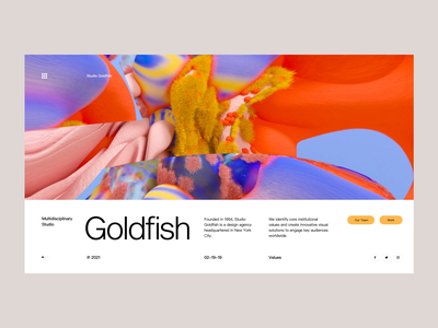 Godfish white ui ux illustration graphic design gradient minimalistic
