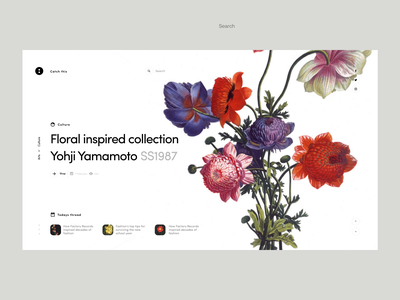 Floral yohji fashion animation flowers minimalistic