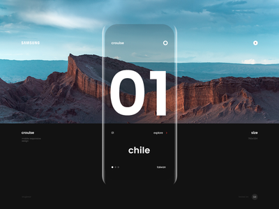 Samsung : Mobile welcome screen phone mobile interaction mobile galaxy s9 minimalistic black ux ui web design
