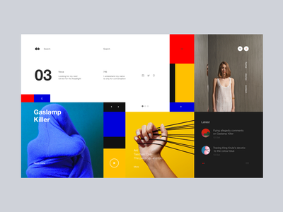 Mondrian mondrian website tag colour gray inspire ux transition minimalistic ui web