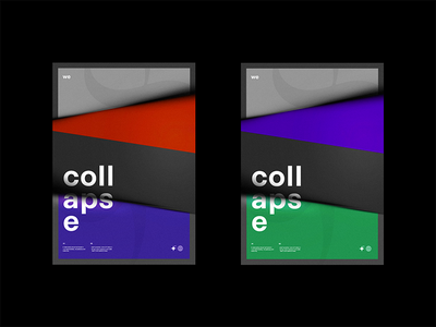 Collapse graphic design minimal pattern gradient bnw japanese noise texture poster branding package black