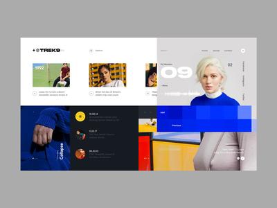 TREK9 white web design ux ui select minimalistic graphic design gradient blue