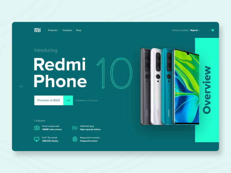 Redmi Phone 10: Product Page Concept phone concept product page redesign concept website design adobe xd brand ui