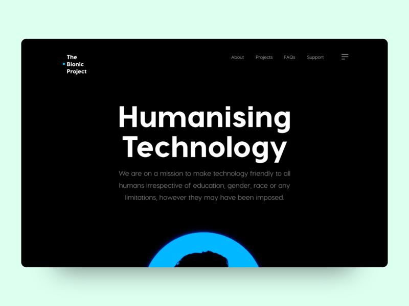 The Bionic Project: Website UI Design Project website design ui