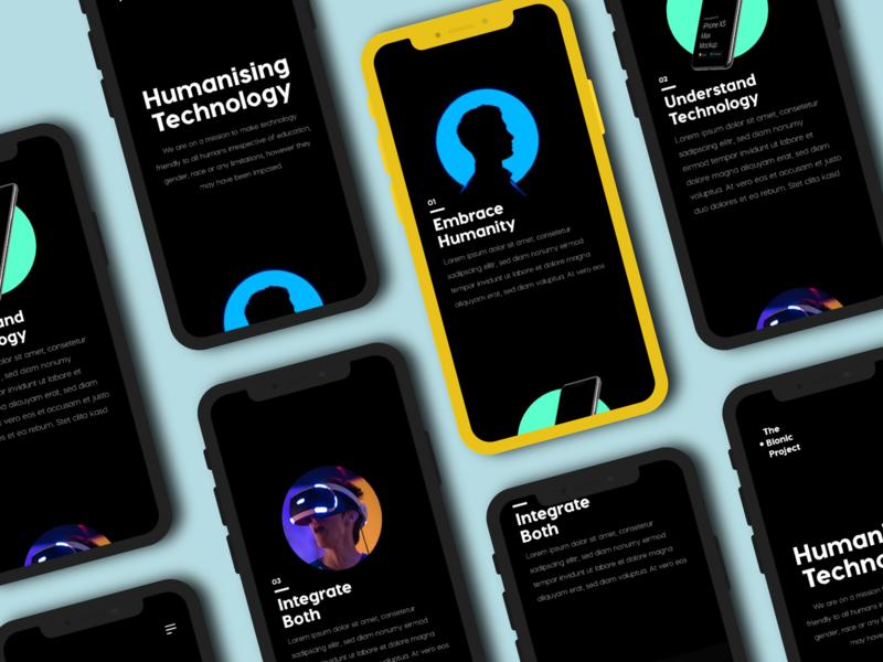 The Bionic Project: Website UI Design Project mobile design ui website design