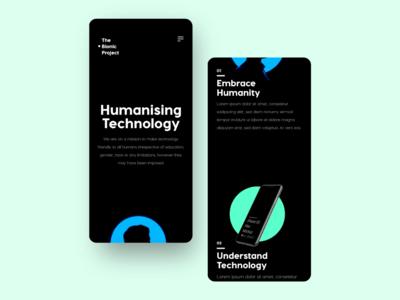 The Bionic Project: Website UI Design Project web design website design design ui