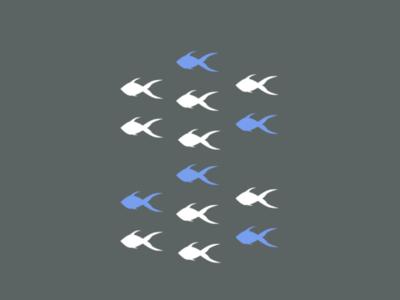 Gestalt Principles : Similarity fish gestalt figma