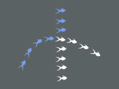 Gestalt Principles: Continuity fish continuity gestalt figma