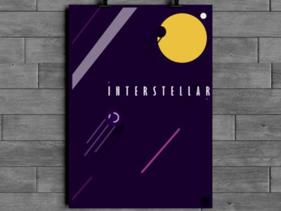 Interstellar poster illustration space design