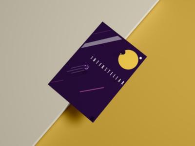 Interstellar poster space design illustration