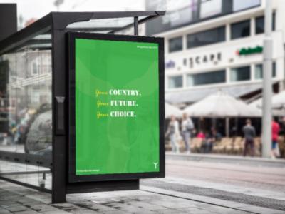 Nigeria Decides 2019 nigeria poster green design
