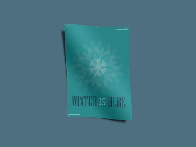 Winter is here illustration poster challenge gameofthrones de