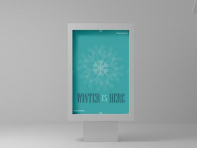 Winter is here illustration gameofthrones poster challenge design