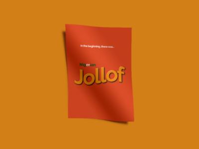 Jollof Wars jollof nigeria food poster naija