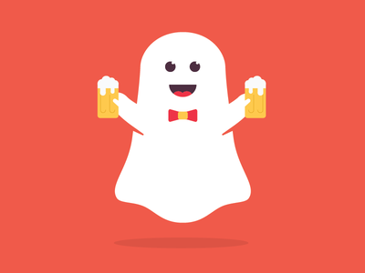 Here for the Boos! beer boos ghost illustration halloween