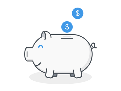 Piggy Bank savings money bank daily illustration illustration