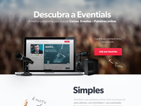Discover Eventials - Landing Page