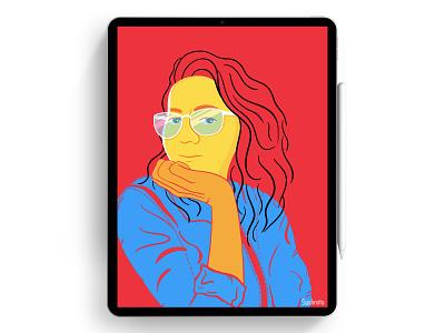 Portrait Illustration faces cartoon digitalart women portrait minimalist character procreate digital illustration design illustration