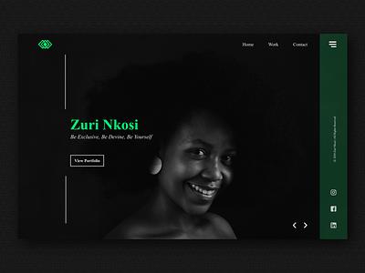 Portfolio mockups dark theme web figma minimalist models fashion portfolio web design design typography ux ui
